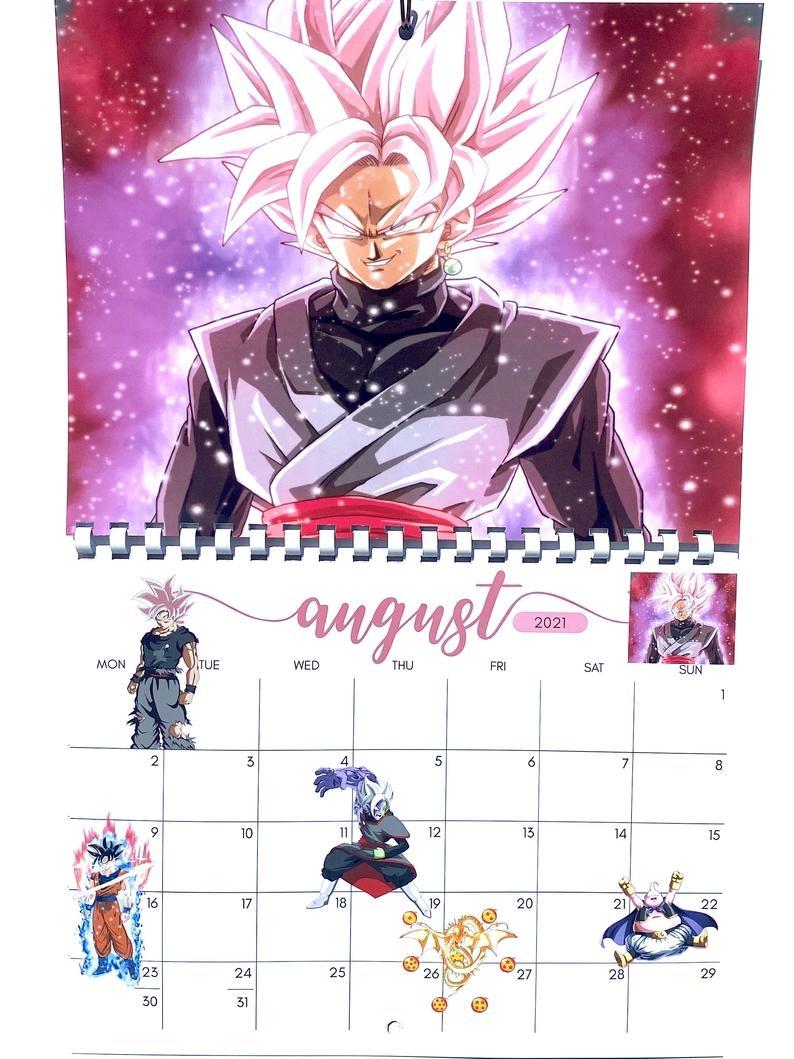 Dragonball Super 2021 Calendar In 2020 | Dragon Ball, Dragon