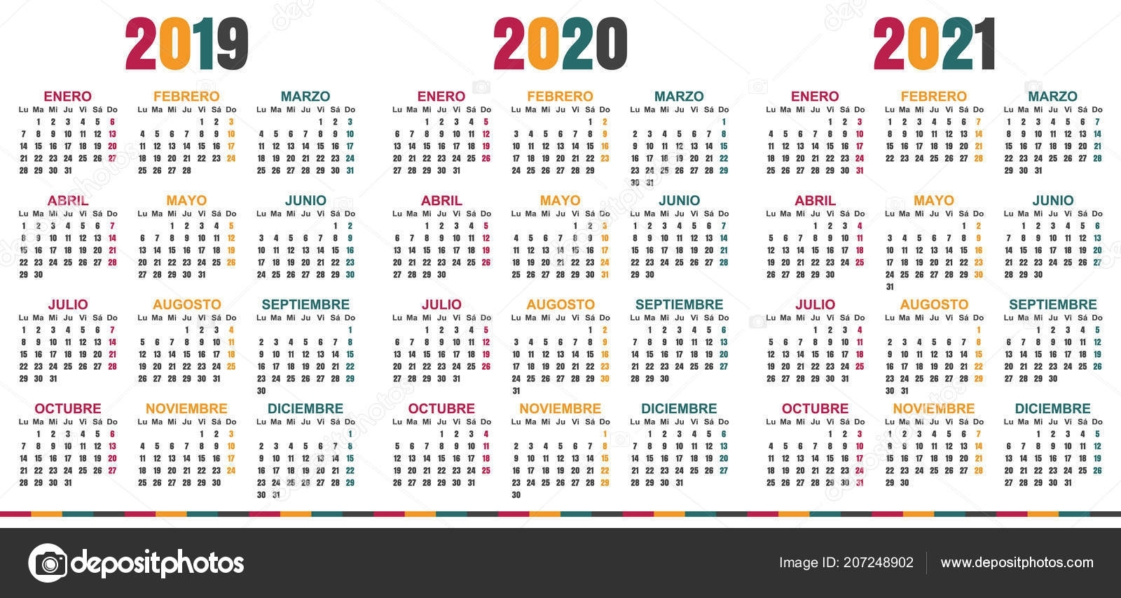 ᐈ Calendar 2021 Stock Vectors, Royalty Free 2021 Calendar