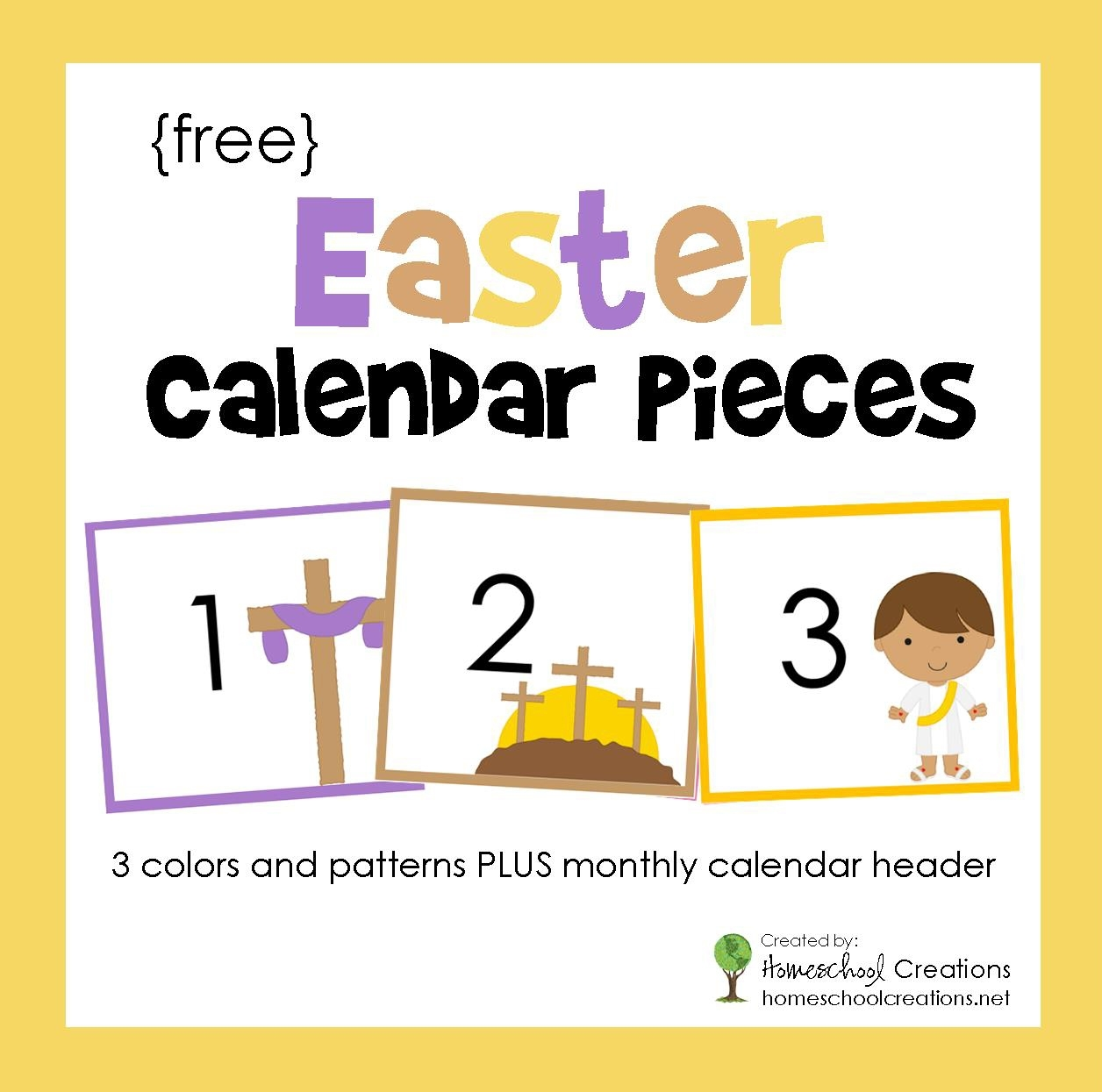 Easter Pocket Chart Calendar Pieces - Free Printable