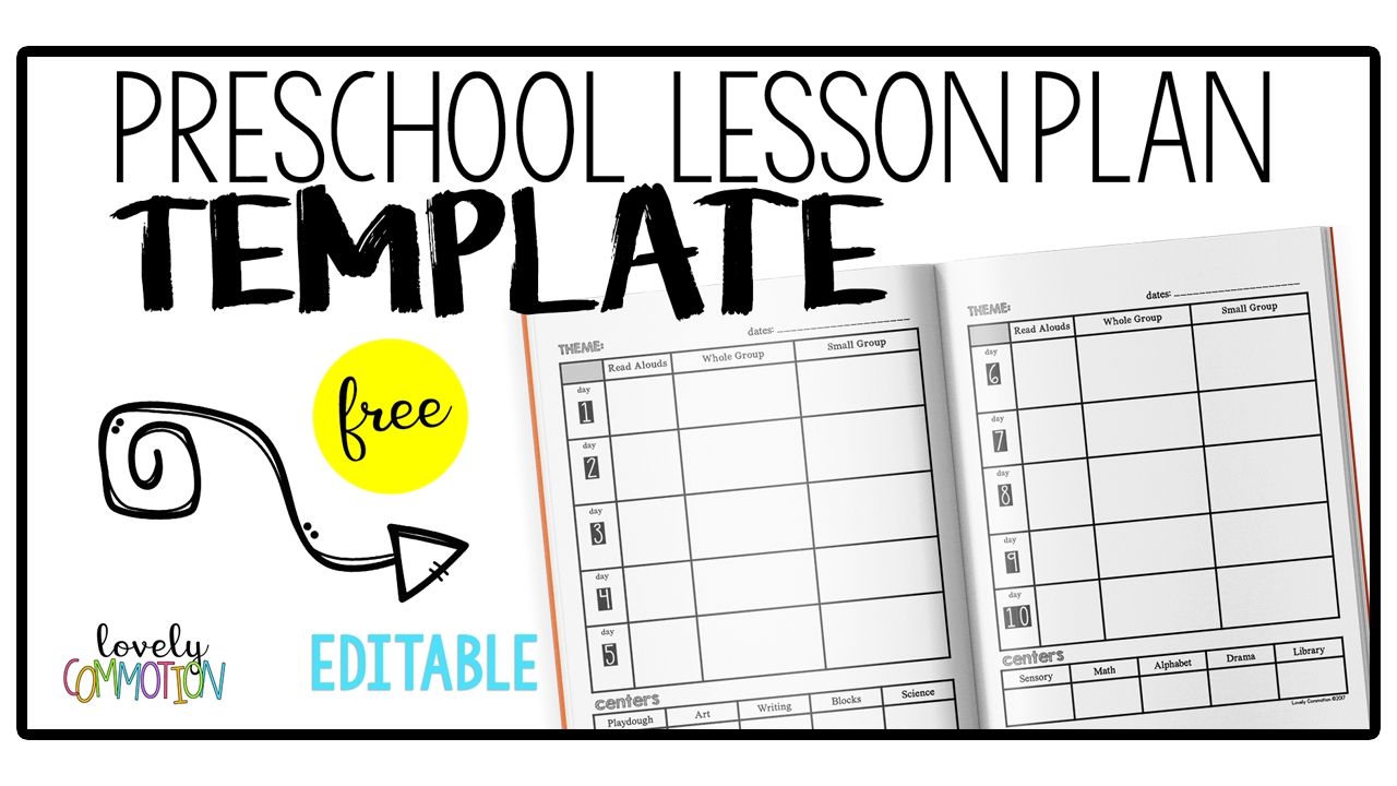 Easy (And Free) Preschool Lesson Plan Template