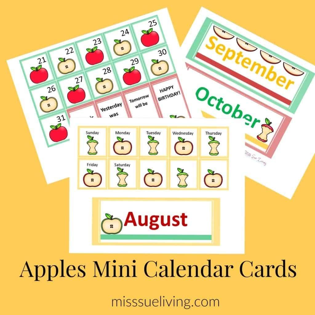 Easy Diy Calendar Pocket Chart - Apple Theme ~ Miss Sue Living