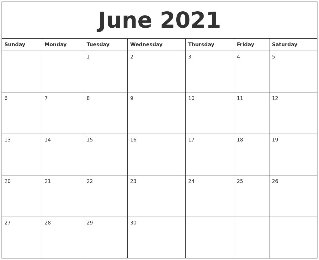 Editable Calendar June 2021 Calendar In 2020 | August