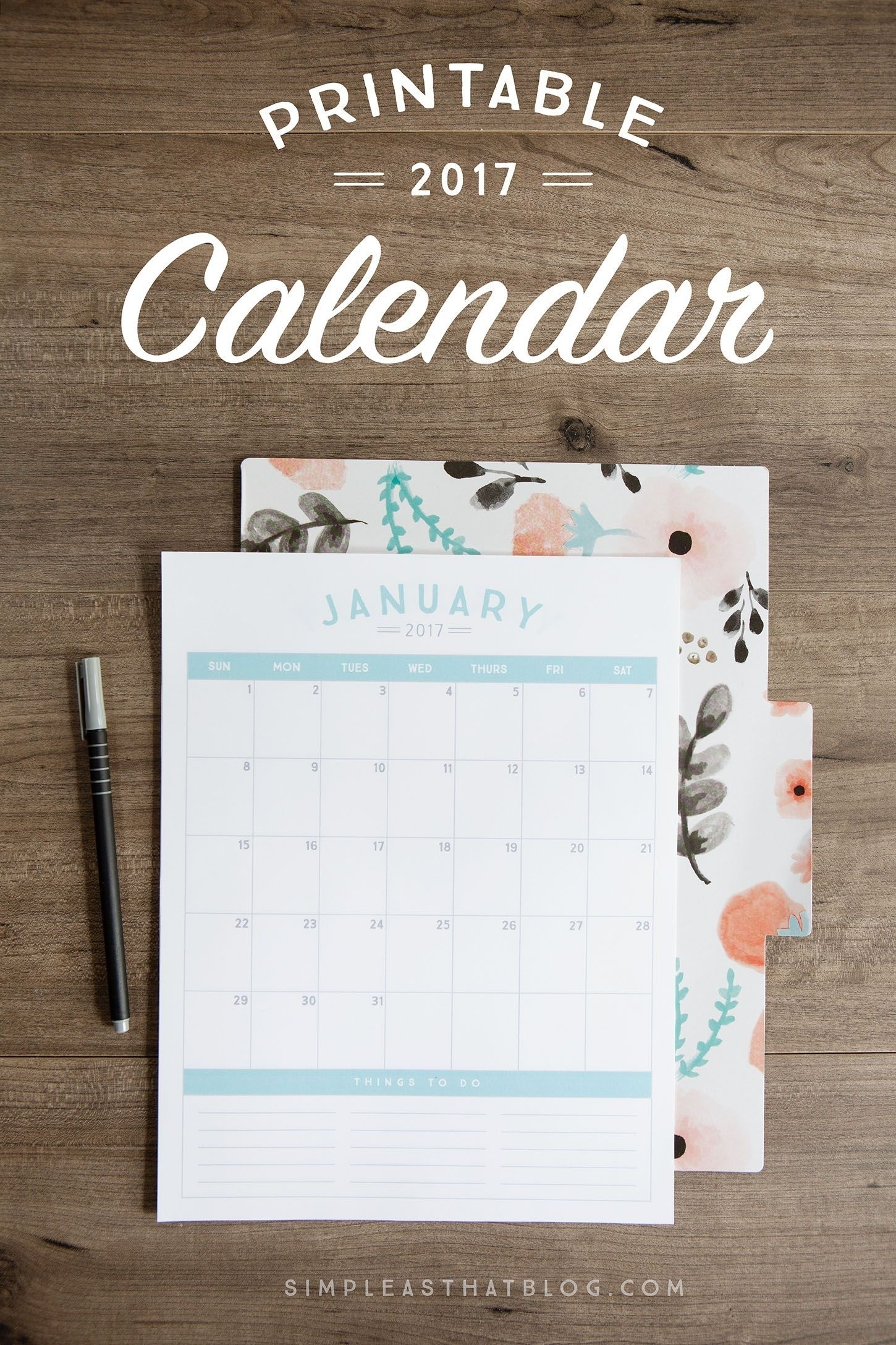 Effective Free Printable Tear Off Calendar In 2020 | Free