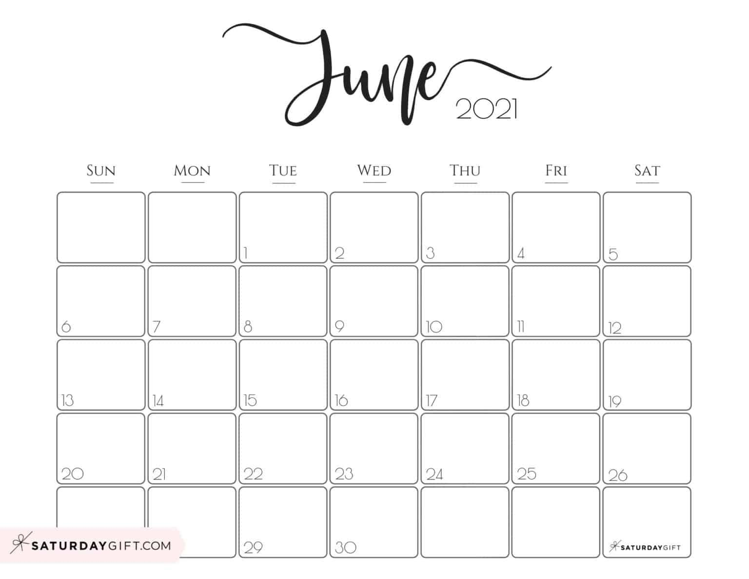 Elegant 2021 Calendarsaturdaygift - Pretty Printable