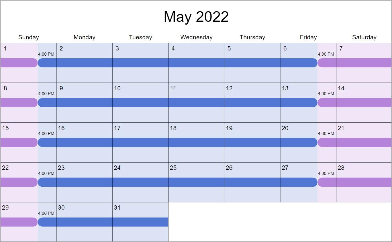 Every Weekend Custody & Visitation Schedule Examples: Create