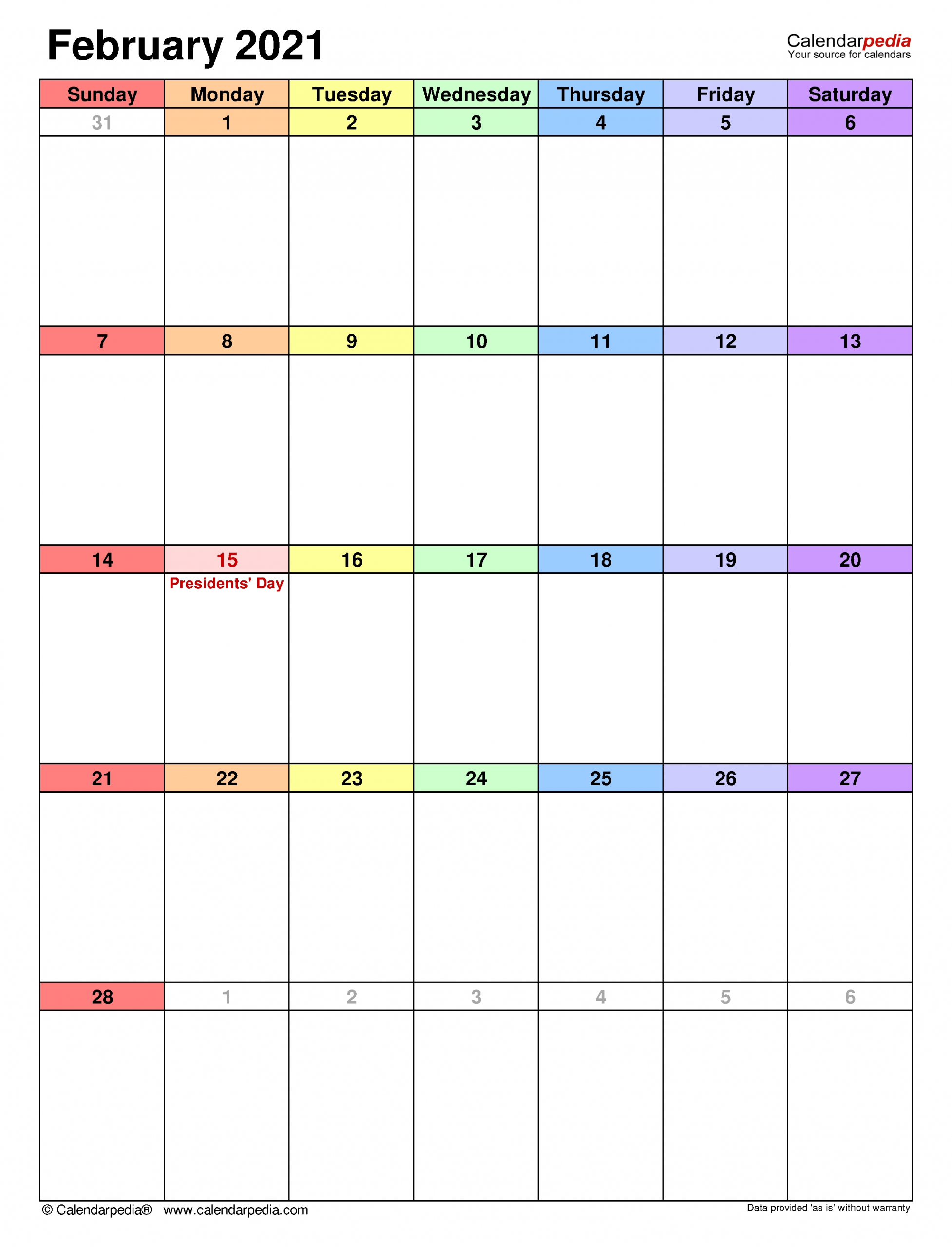 Months From Feb 1 2021 | Month Calendar Printable