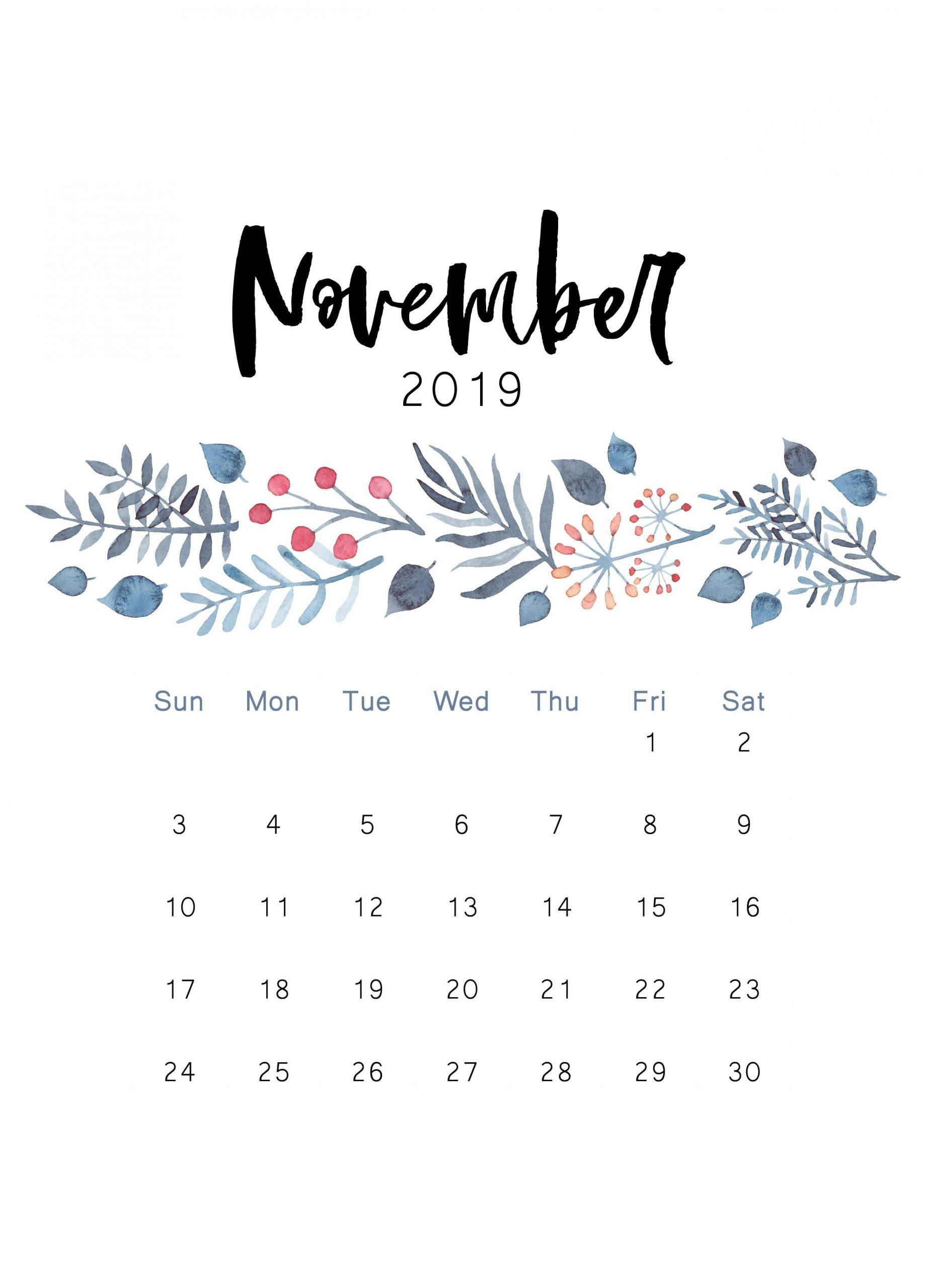 Free 2019 Printable Calendar - The Cactus Creative