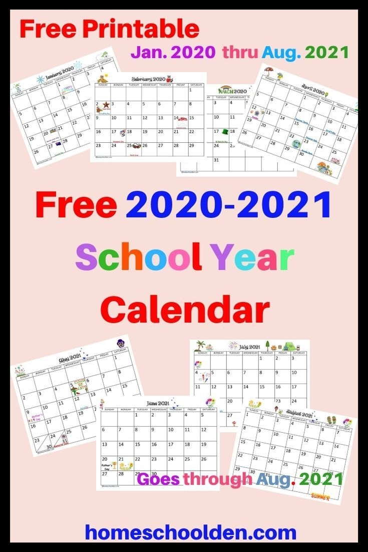 Free 2020-2021 Calendar Printable In 2020   School Calendar