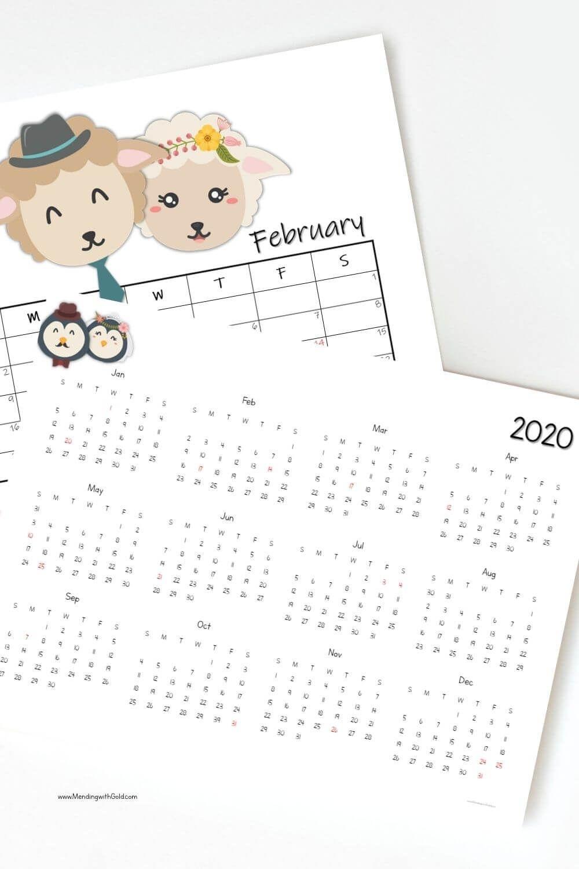 Free Cute Printable Calendar 2020 (A 30 Day Series) In 2020