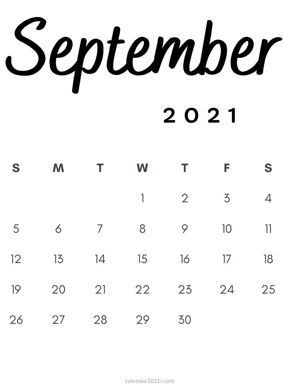 Free Minimalist 2021 Calendar Monthly Printable | Calendar 2021