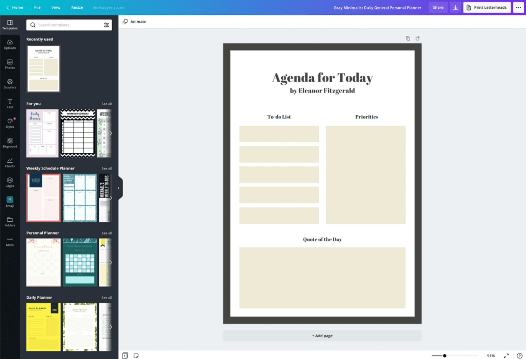 Free Online Personal Planner Maker: Design A Custom Personal