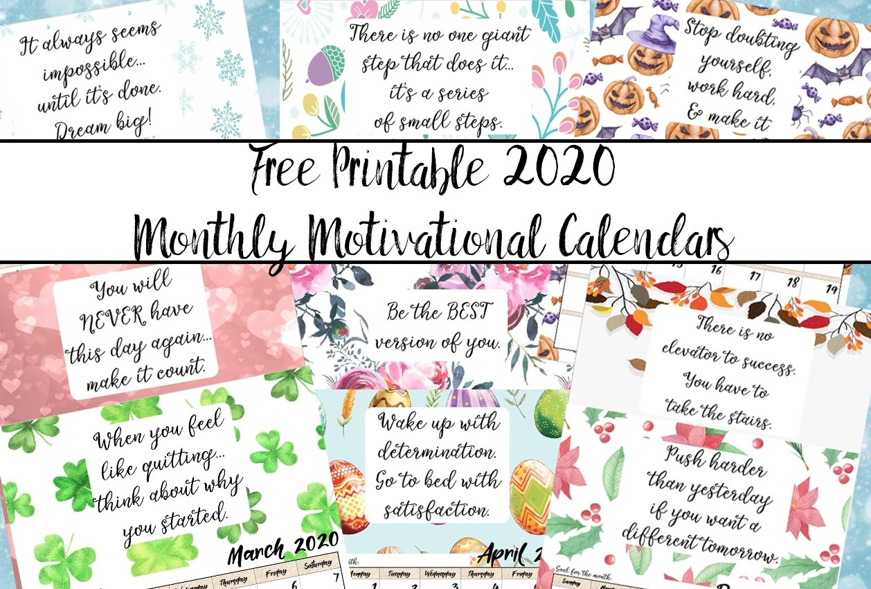 Free Motivational Quotes For A Calander