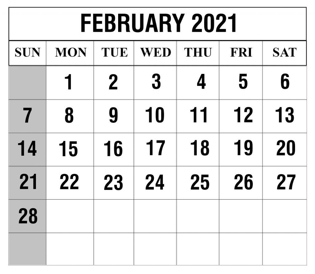 Free Printable 2021 February March Calendar In 2020