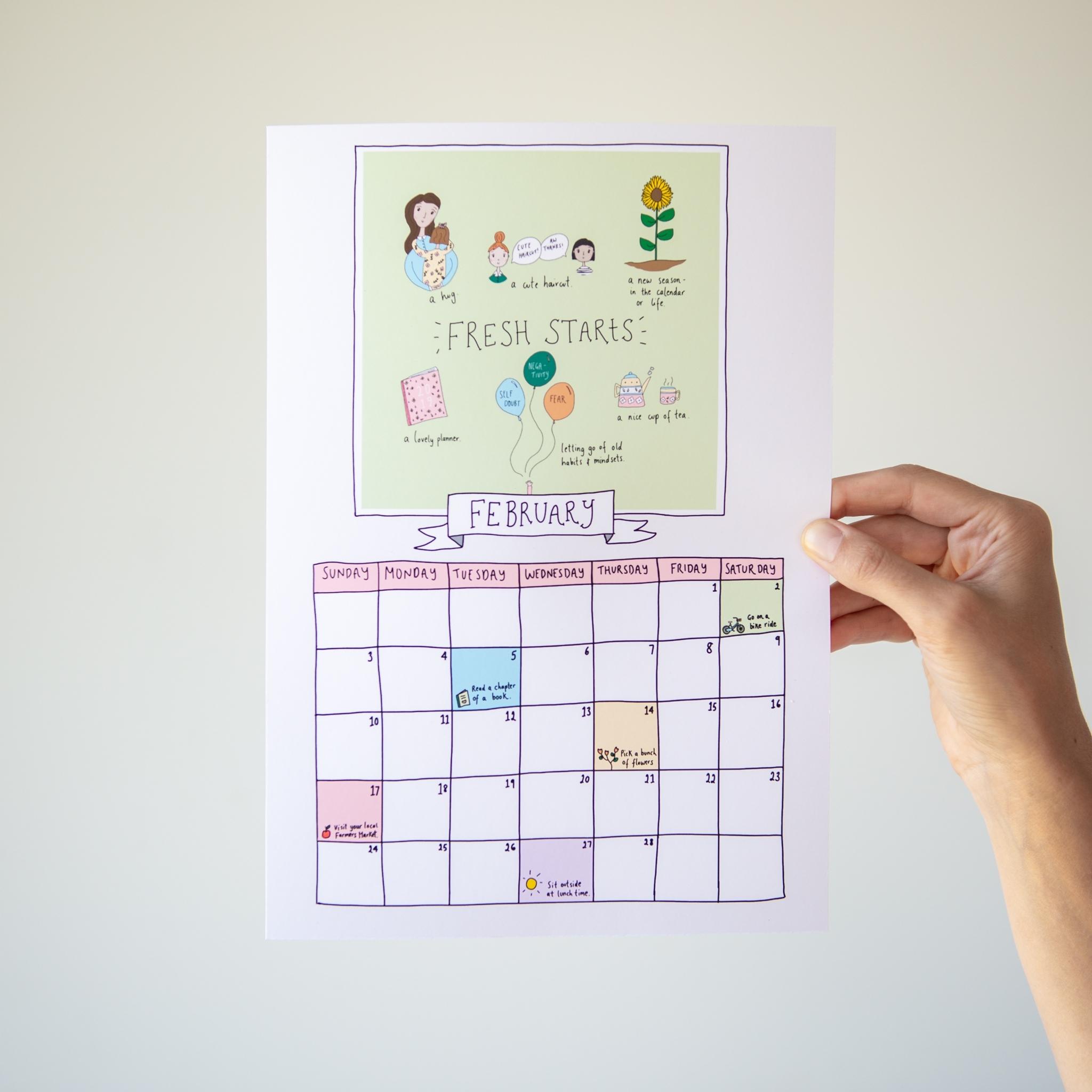 Free Printable Calendar And Weekly Planner - Wordfinders Club