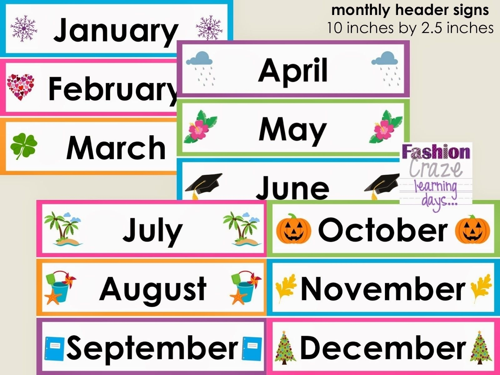 Free Printable Calendar Headers In 2020 | Printable Calendar