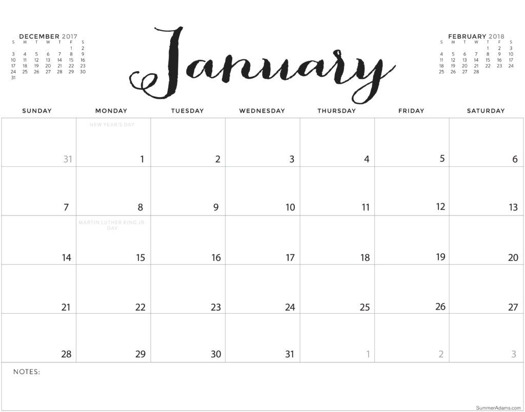 Free Printable Calendar Horizontal In 2020 | Calendar