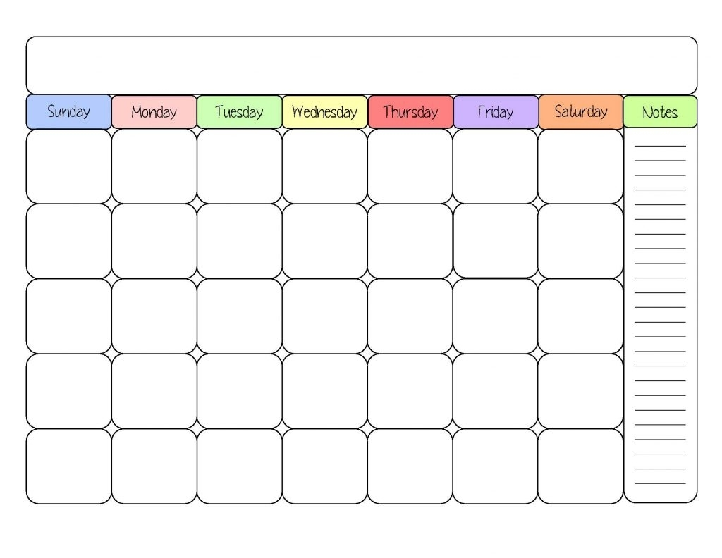 Free Printable Calendar Template – Printable Week Calendar
