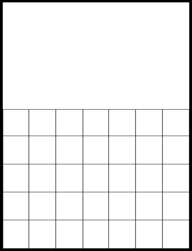 Free Printable Large Grid Calendar In 2020 | Printable Blank