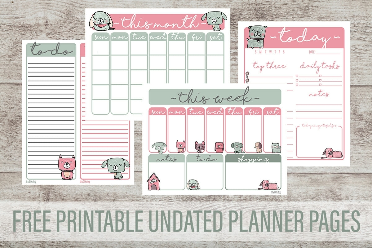 Free Printable Planner Pages For Dog Lovers - Kol'S Notes