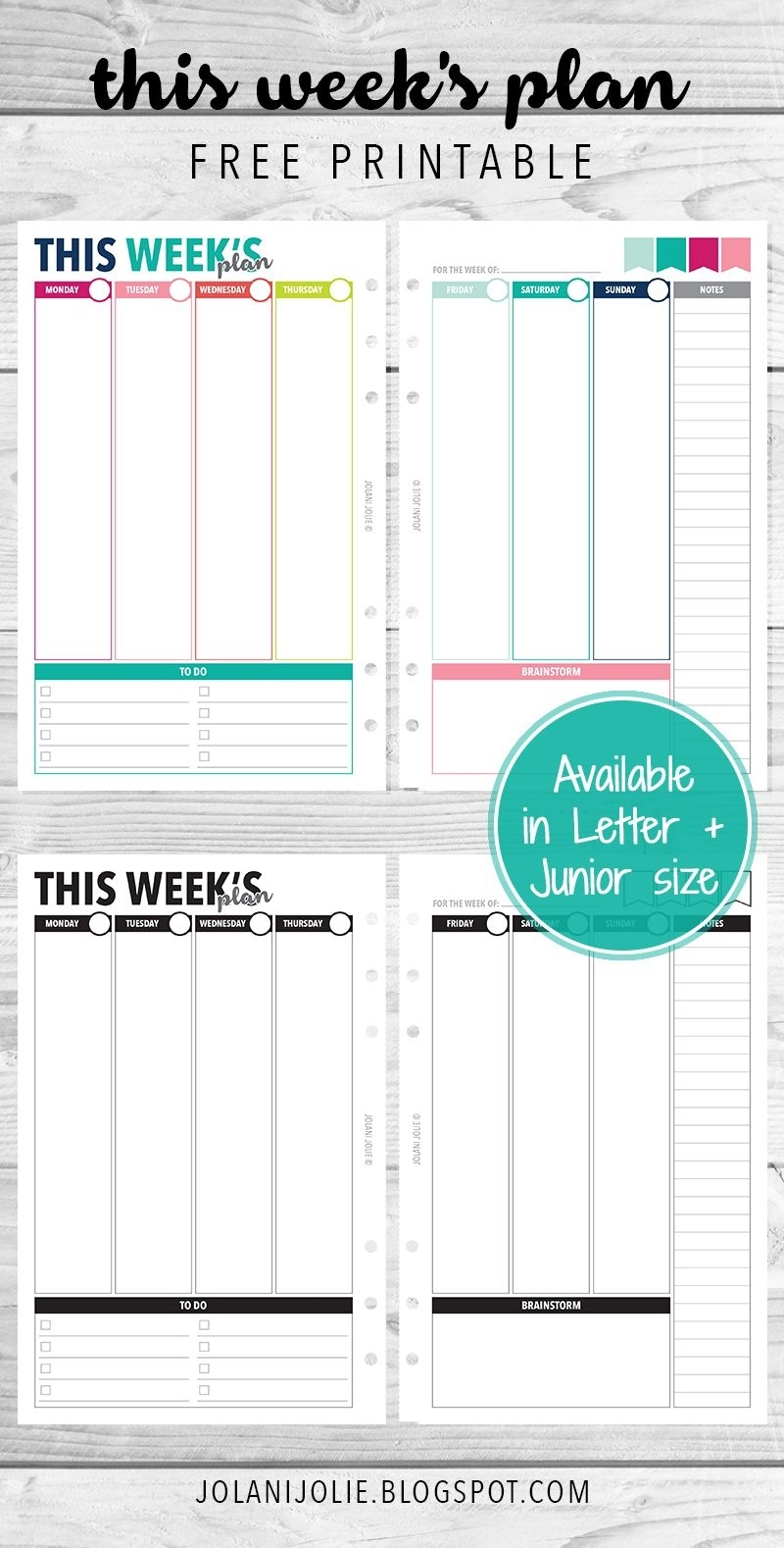 Free Printable: Vertical Planner Insert On 2 Pages | Planner