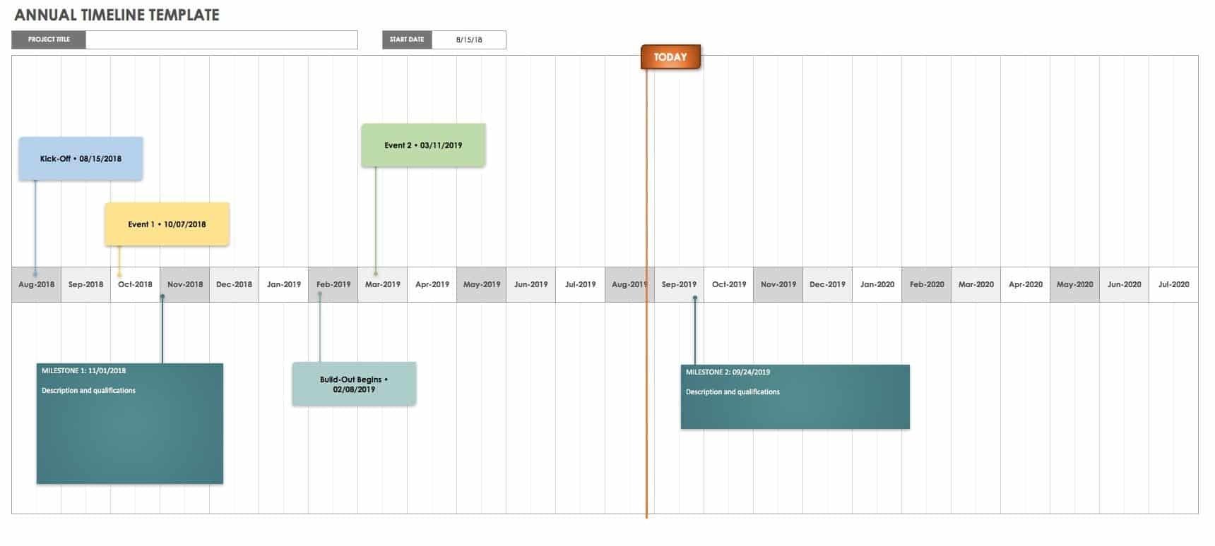 Free Project Calendar Templates | Smartsheet