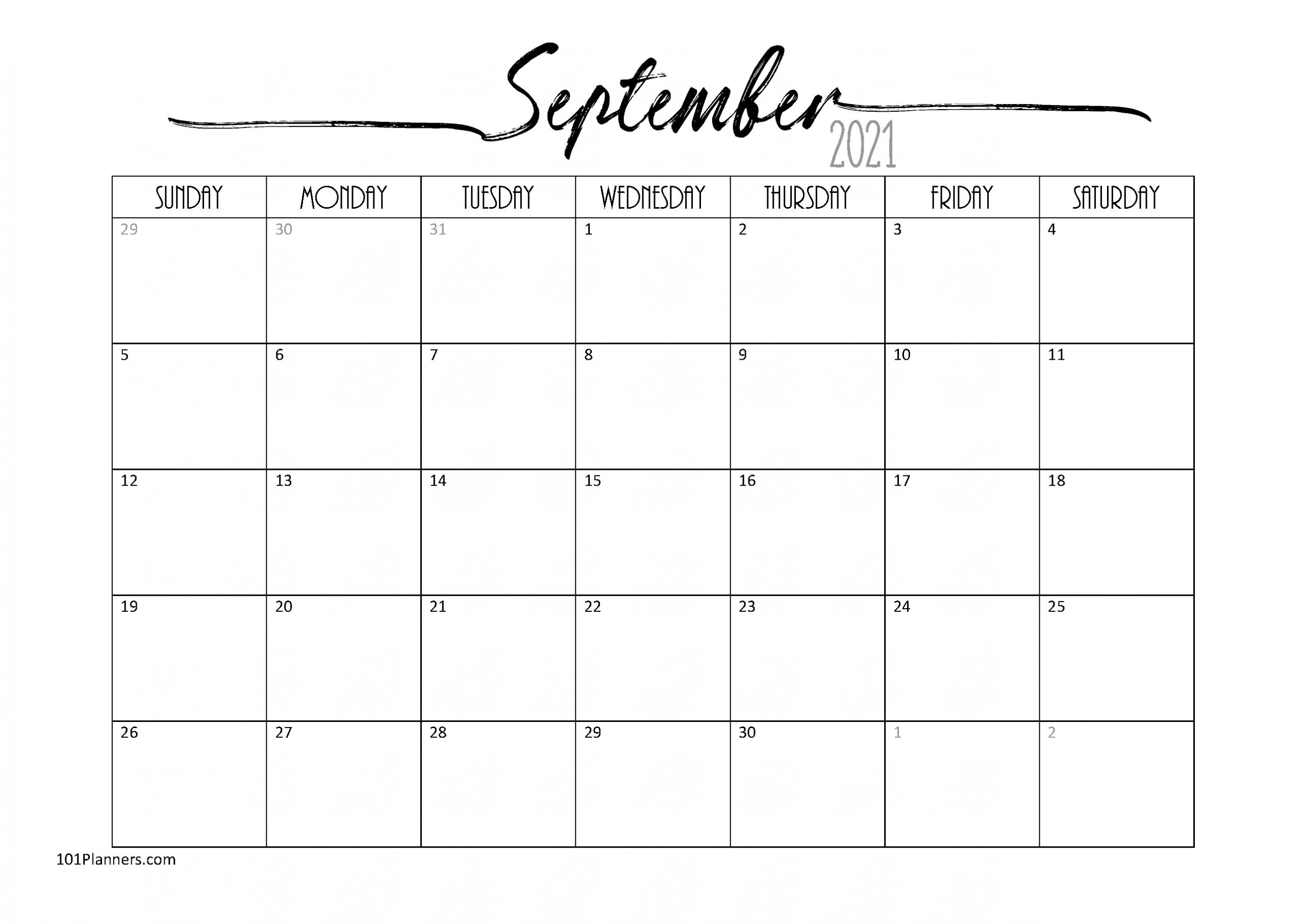 Free Word Calendar 2021