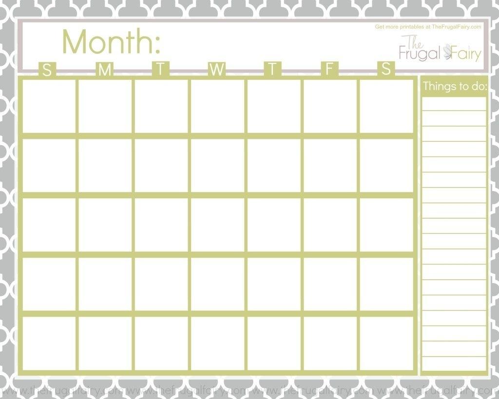 Free+Blank+Calendar+Printables | Monthly Calendar Printable