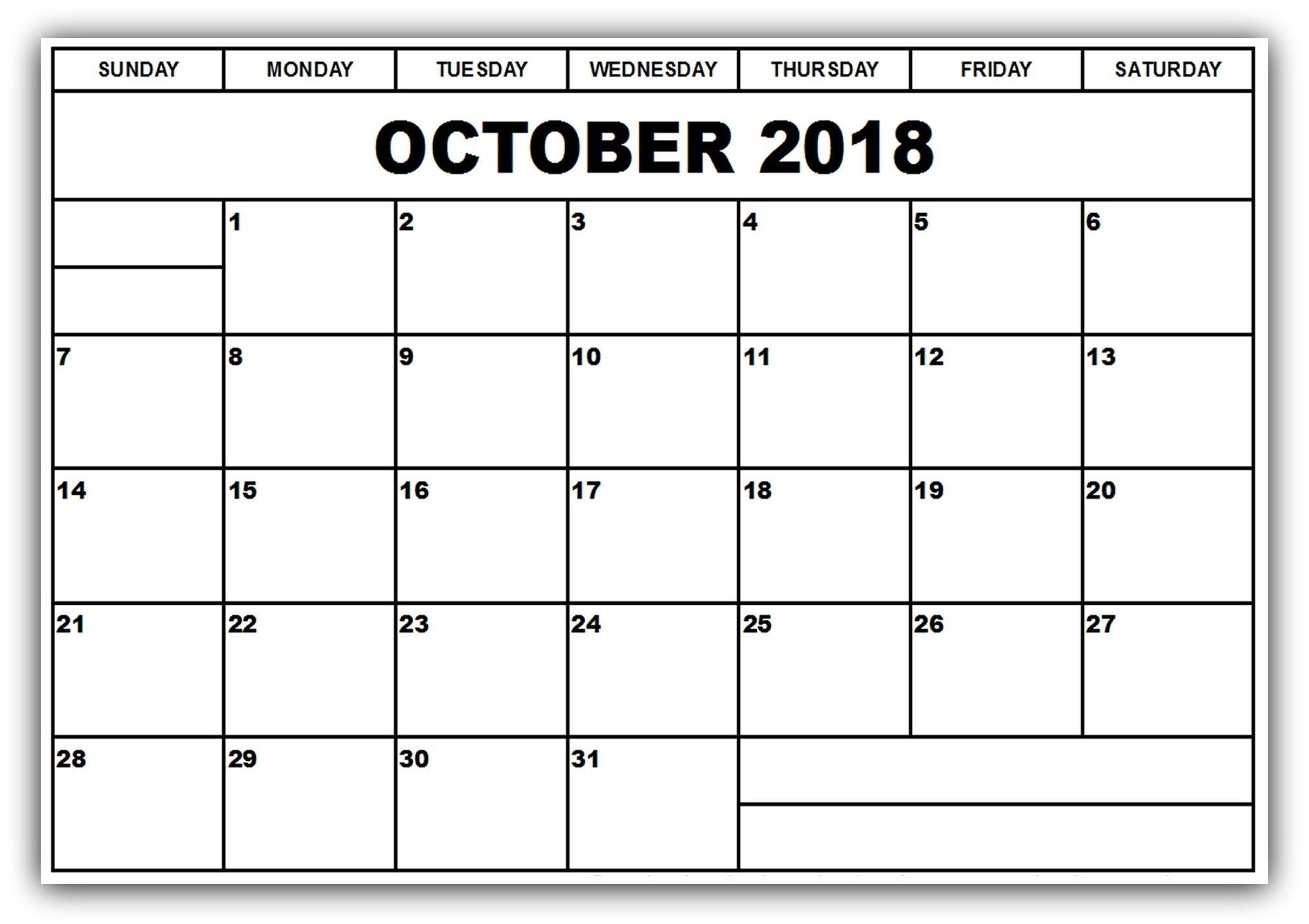 Good Calendar Template October Images Gallery October 2018