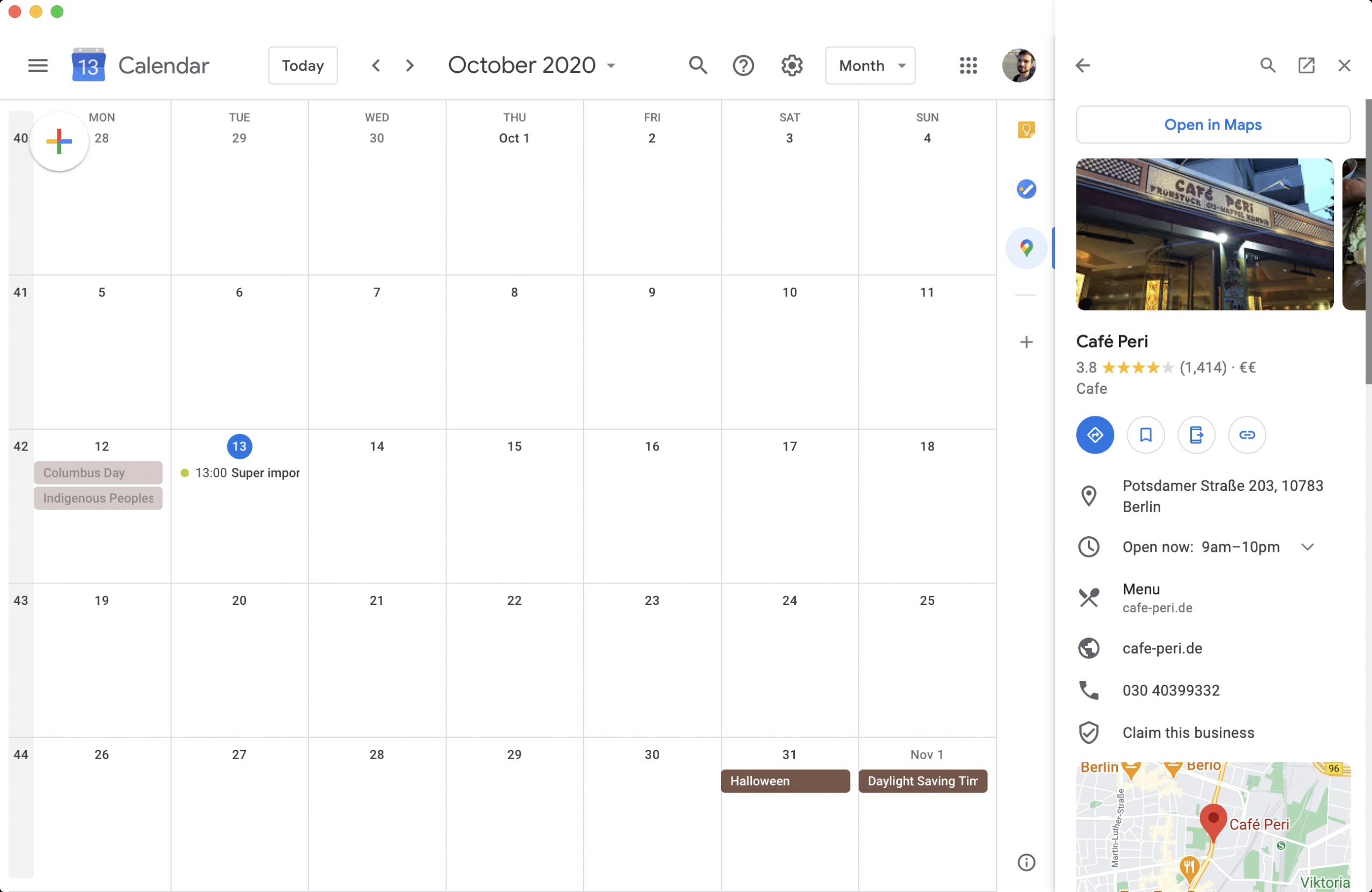 Google Calendar Adds Miniature Version Of Maps To Its