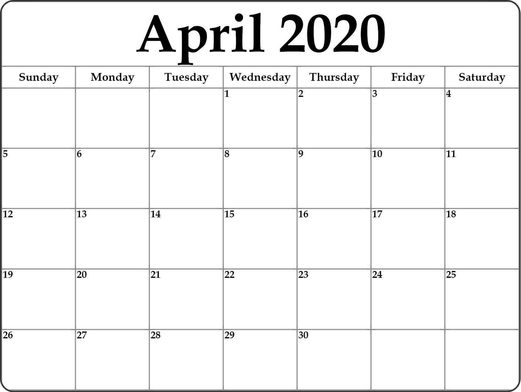 Google Calendar April 2020 - Free Printable Calendar Templates