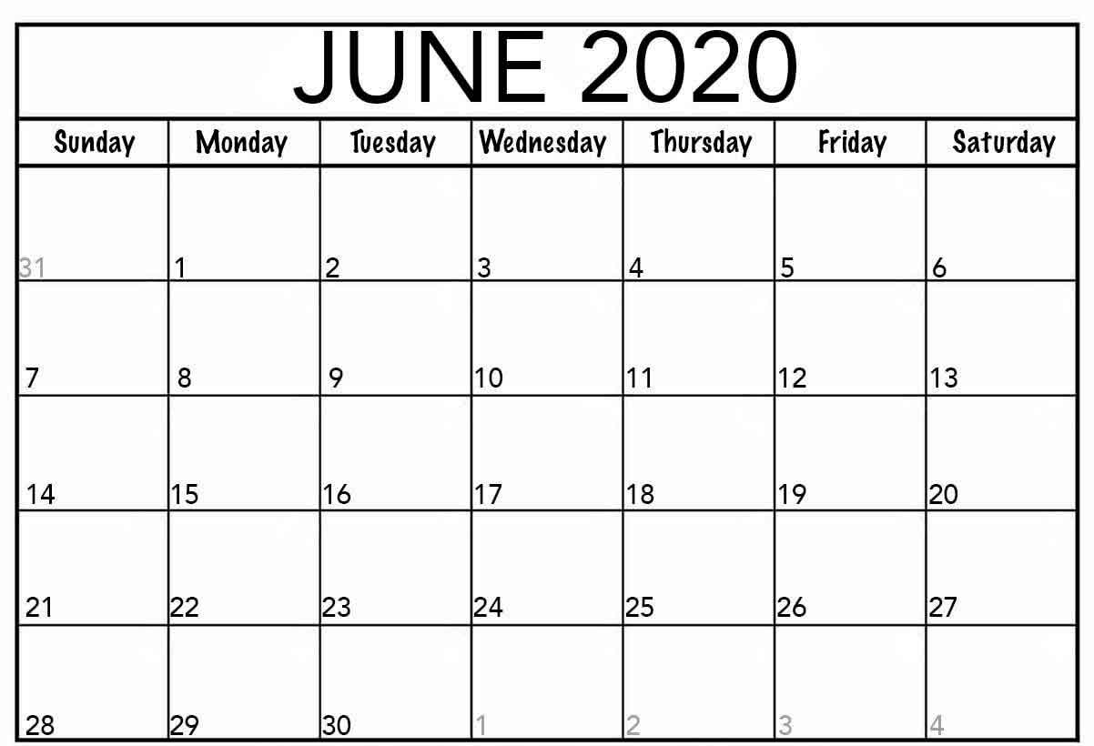 Google Calendar June 2020 Free Printable Calendar Templates.