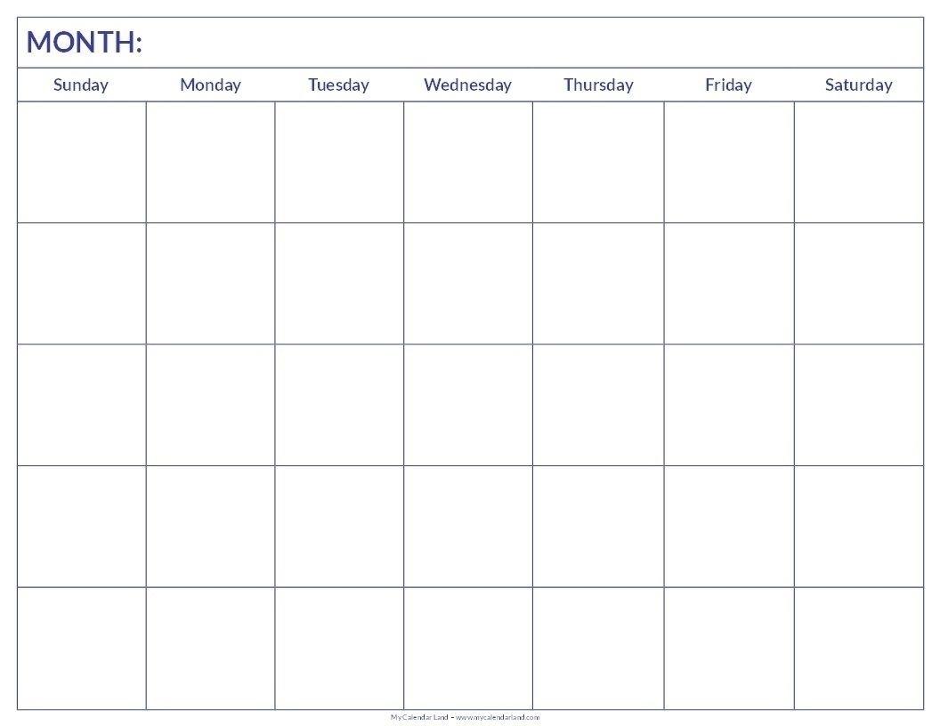 Incredible Blank Calendar Template 6 Weeks In 2020 | Blank
