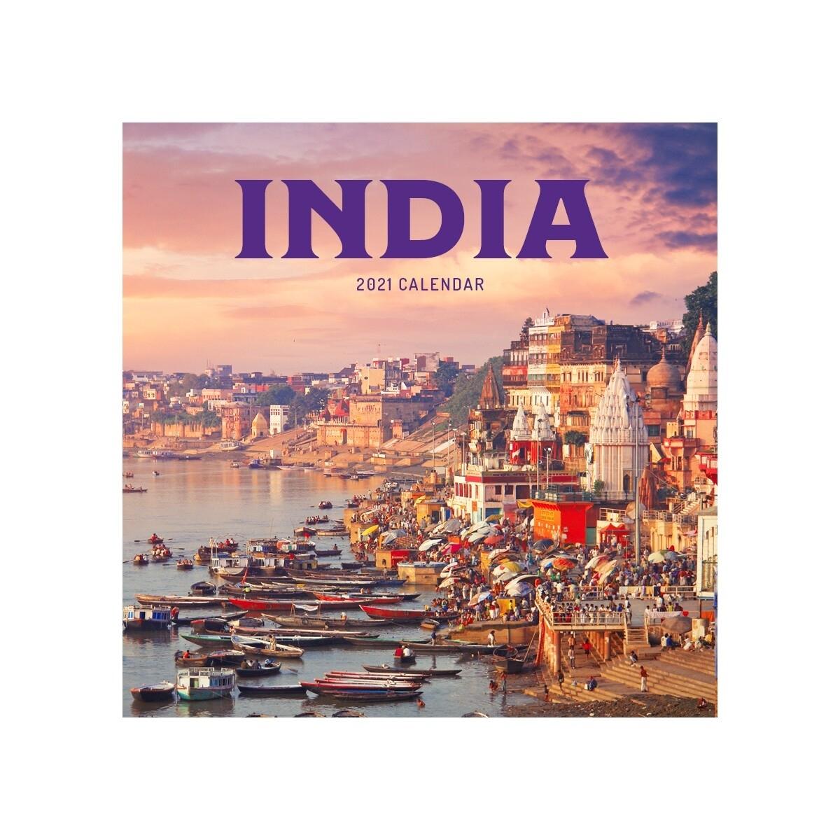 India Wall Calendar 2021
