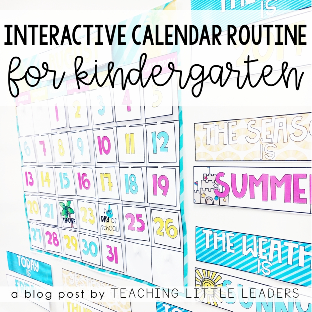 Interactive Calendar Time Routine For Kindergarten