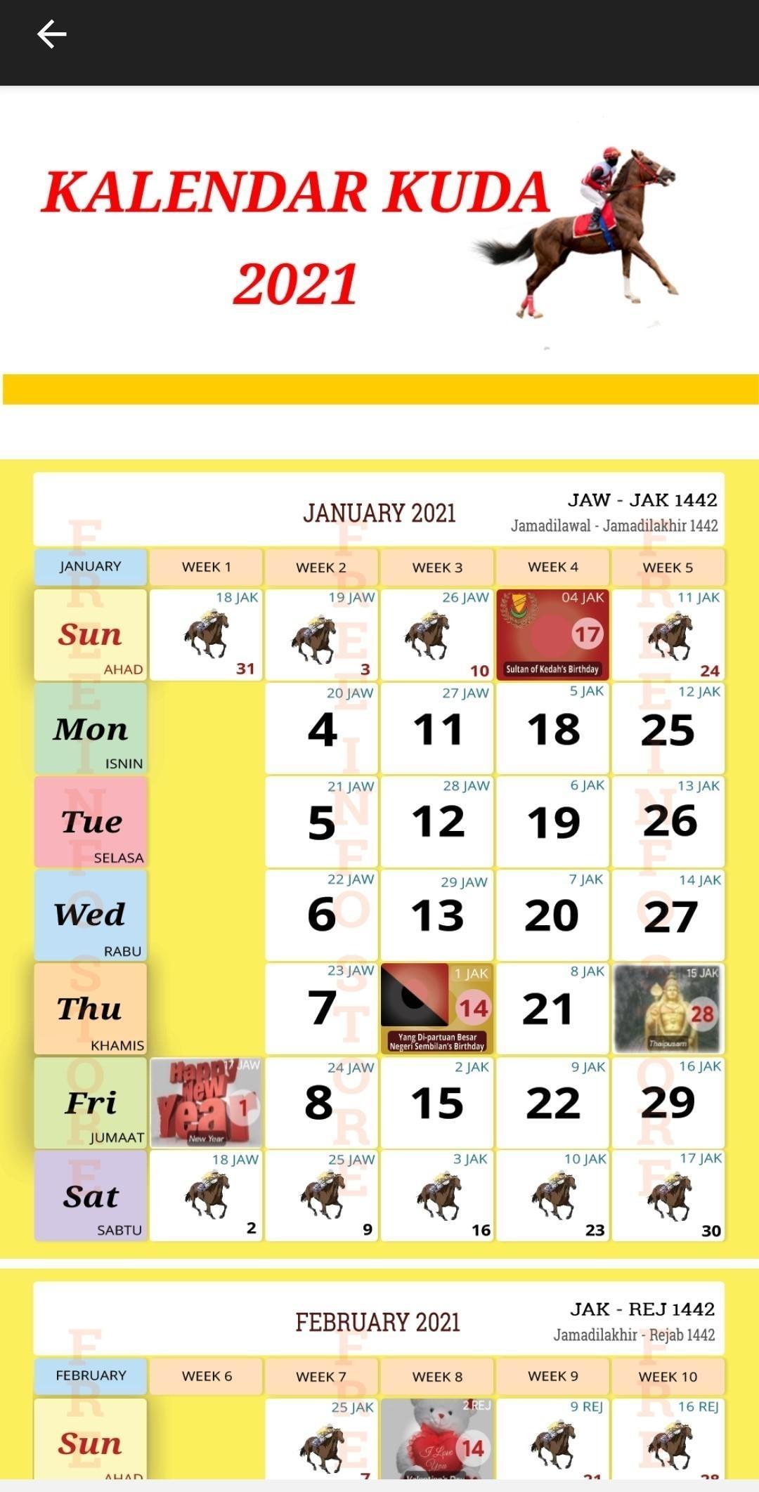 Kalendar Kuda 2021 For Android - Apk Download