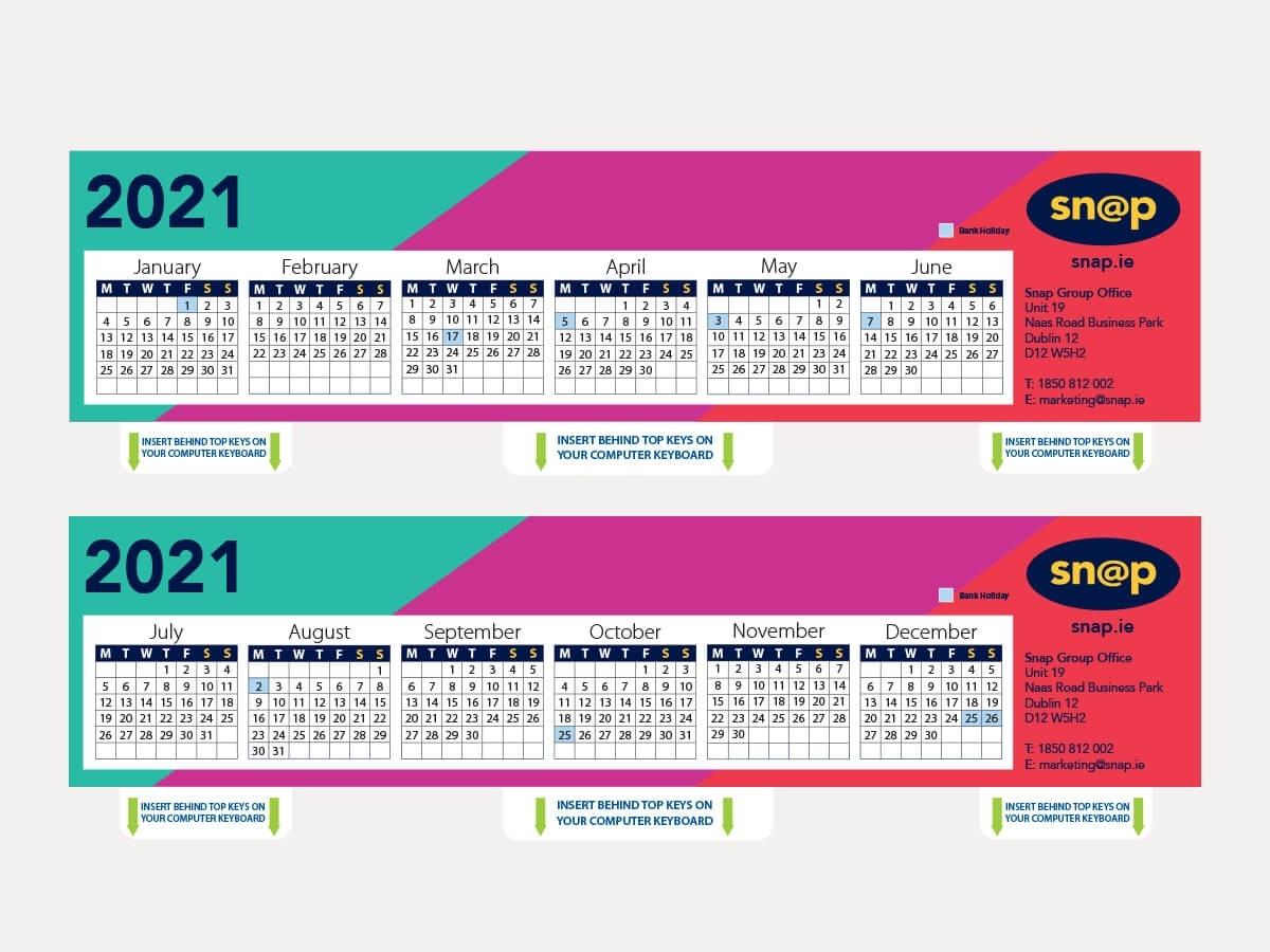 Keyboard Calendars | Desk Calendar | Business Stationery