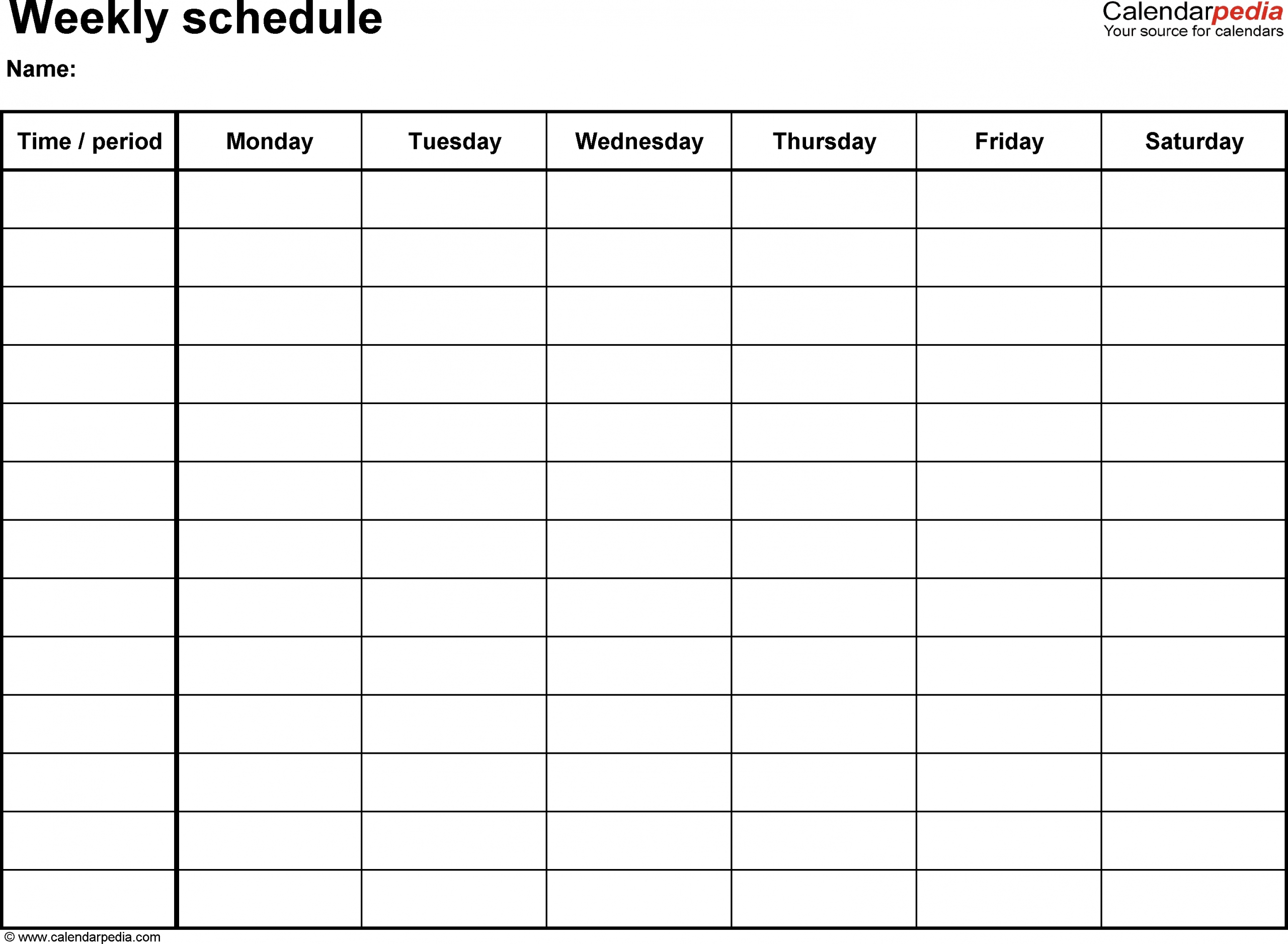 Kid Days Of The Week Calendar Template - Calendar