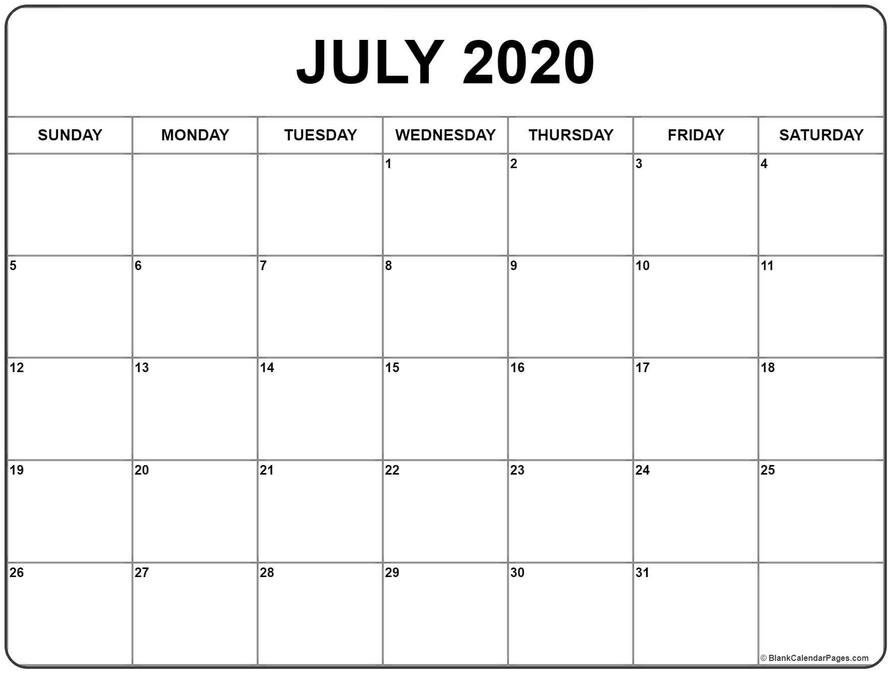 Large Box Printable Calendar 2020 Google - Calendar