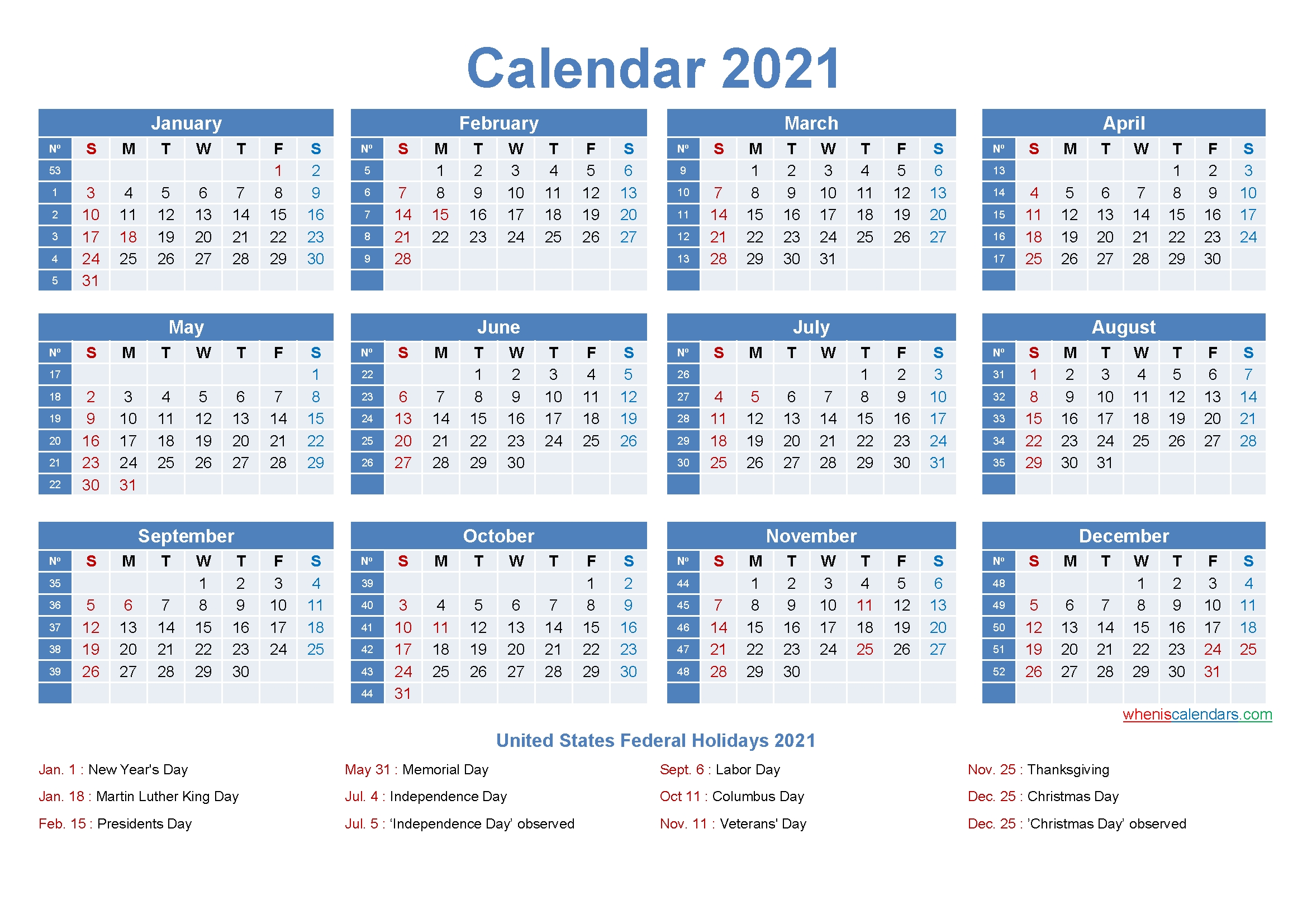 Large Desk Calendar 2021 With Holidays – Free 2020 And 2021
