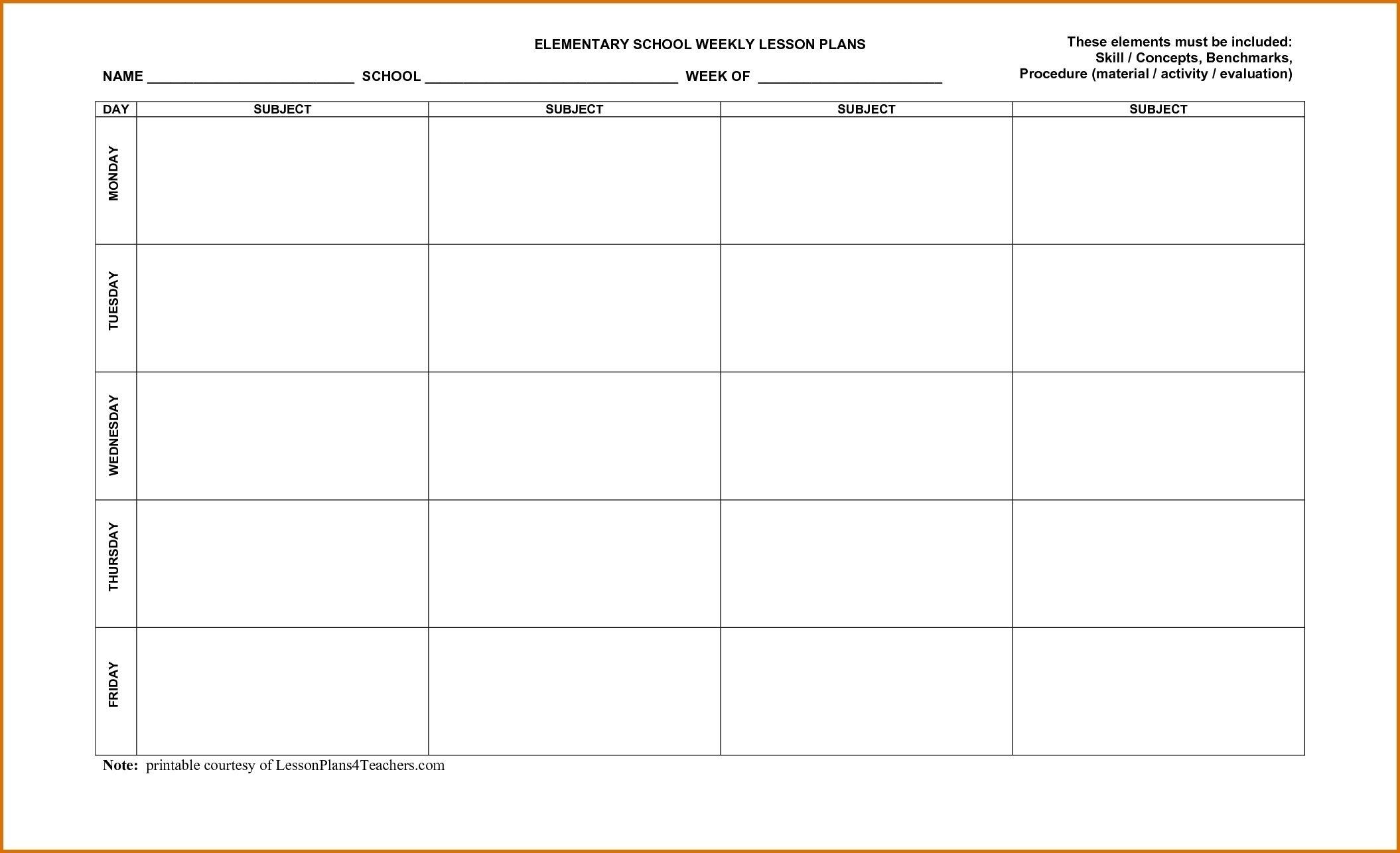 Lesson Plan Calendar October Blank | Blank Calendar Template