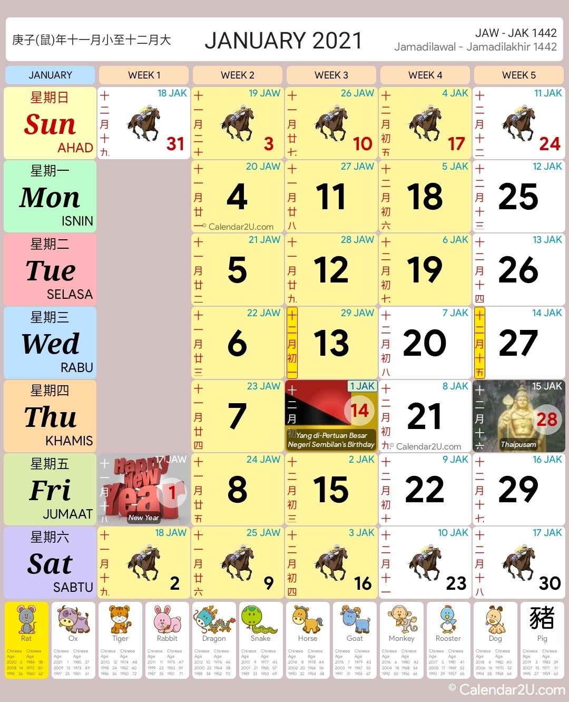 Malaysia Calendar Year 2021 - Malaysia Calendar