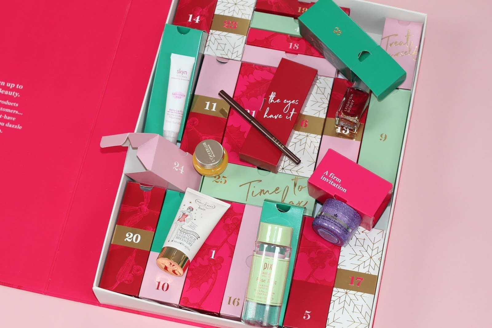 Marks And Spencer Beauty Advent Calendar 2018 Contents