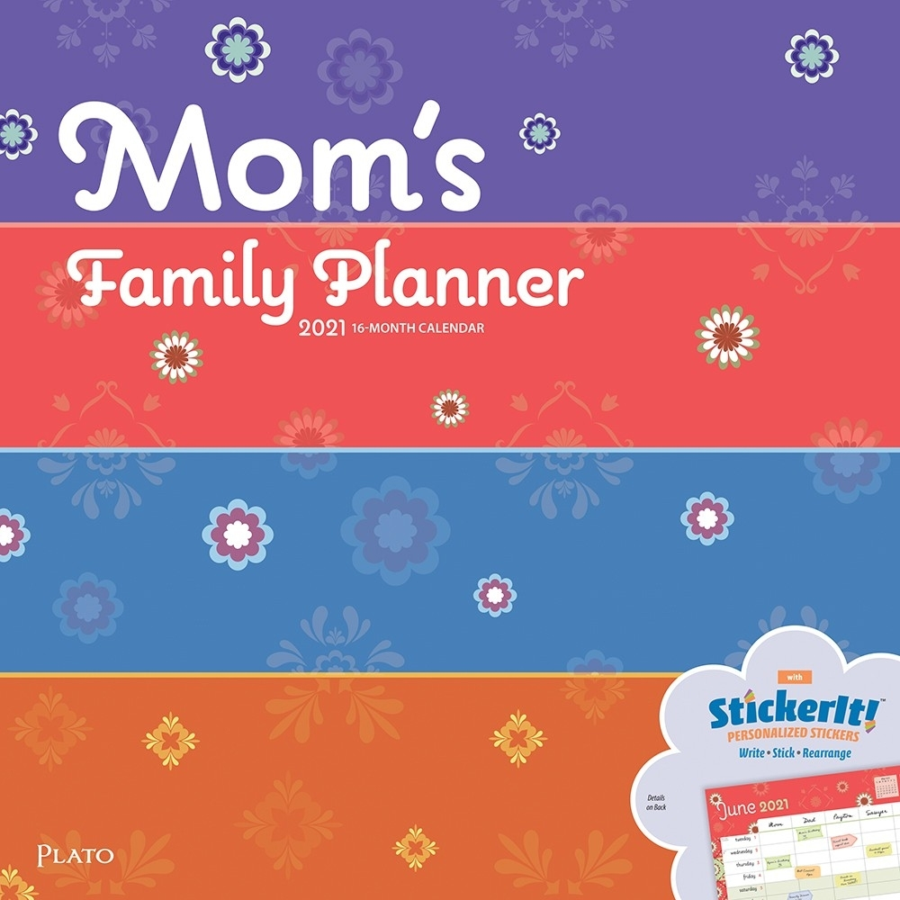Mom'S Family Planner 2021 12 X 12 Inch Monthly Square Wall