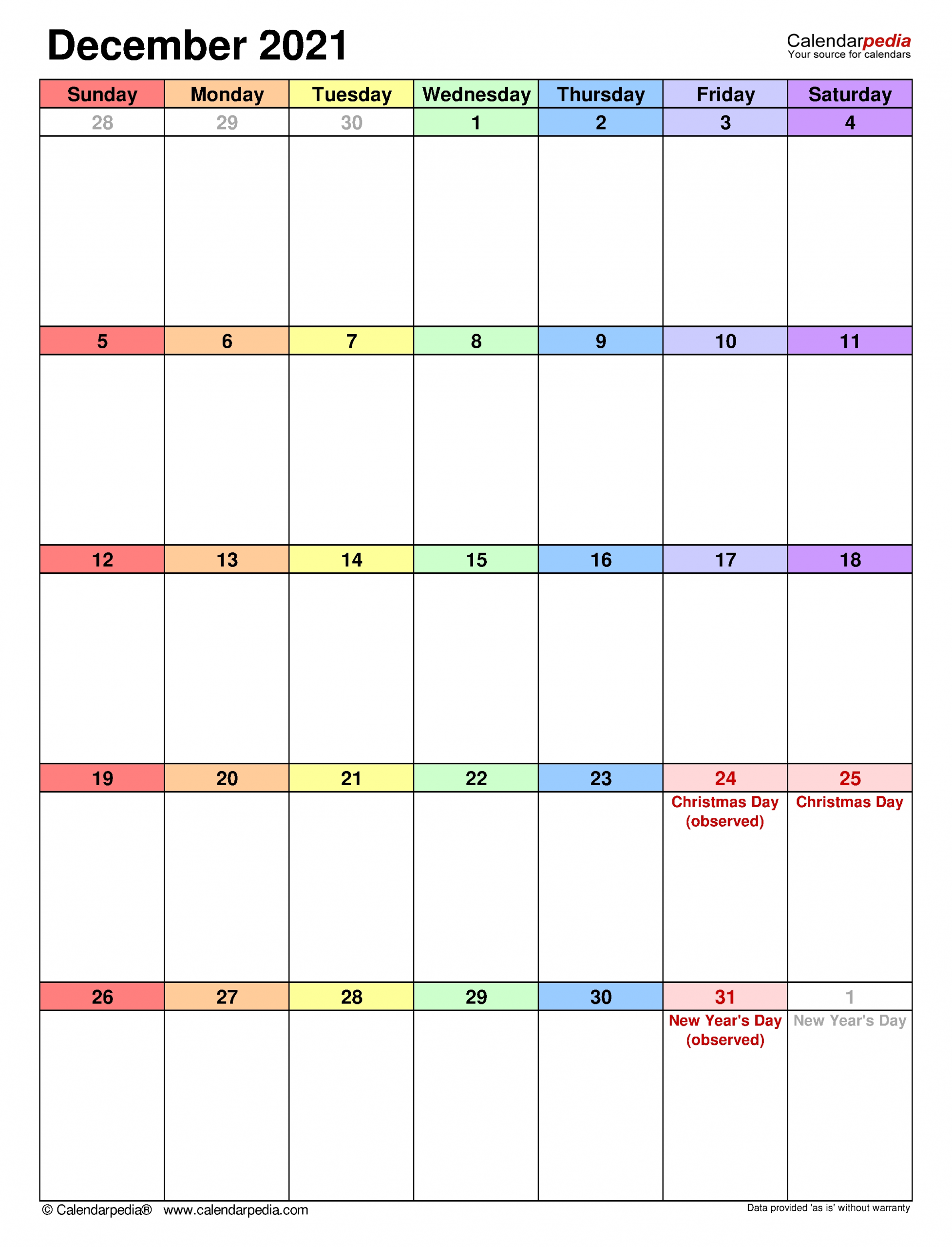 Monthly Calendar December 2021 Photos Download Jpg, Png, Gif