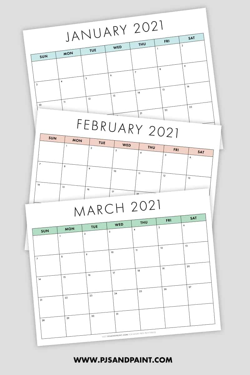 Monthly Calendar Template 2021 - Google Search In 2020