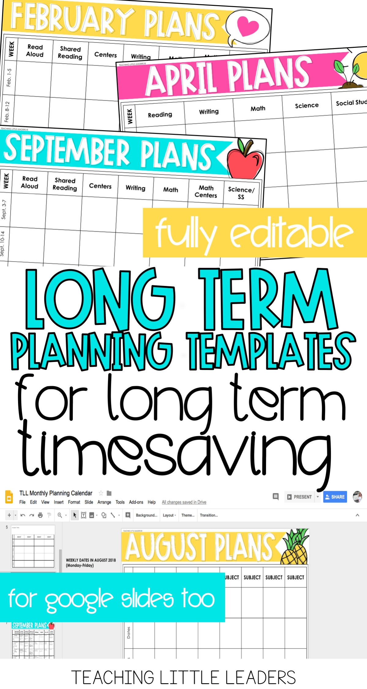 Monthly Planning Calendar Templates {Digital & Editable