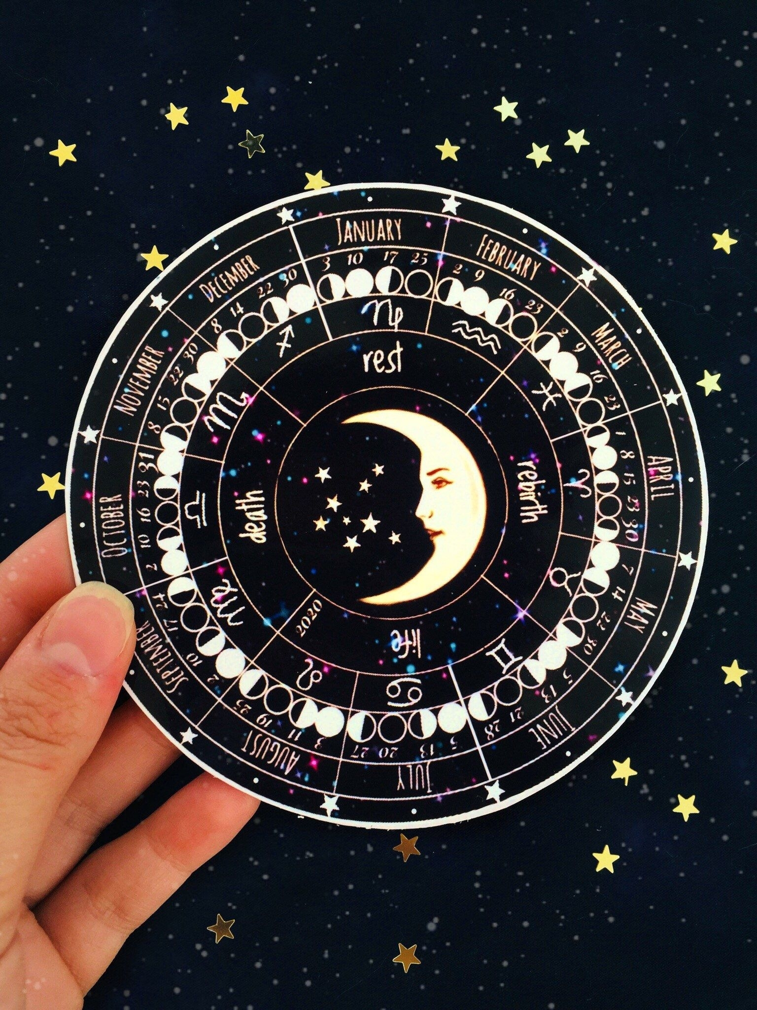 Moon Calendar 2021 Lunar Calendar Zodiac Calendar   Etsy