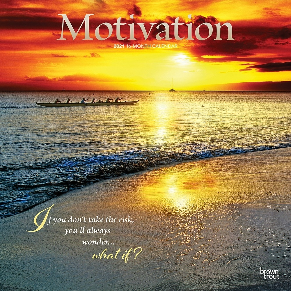 Motivation 2021 12 X 12 Inch Monthly Square Wall Calendar