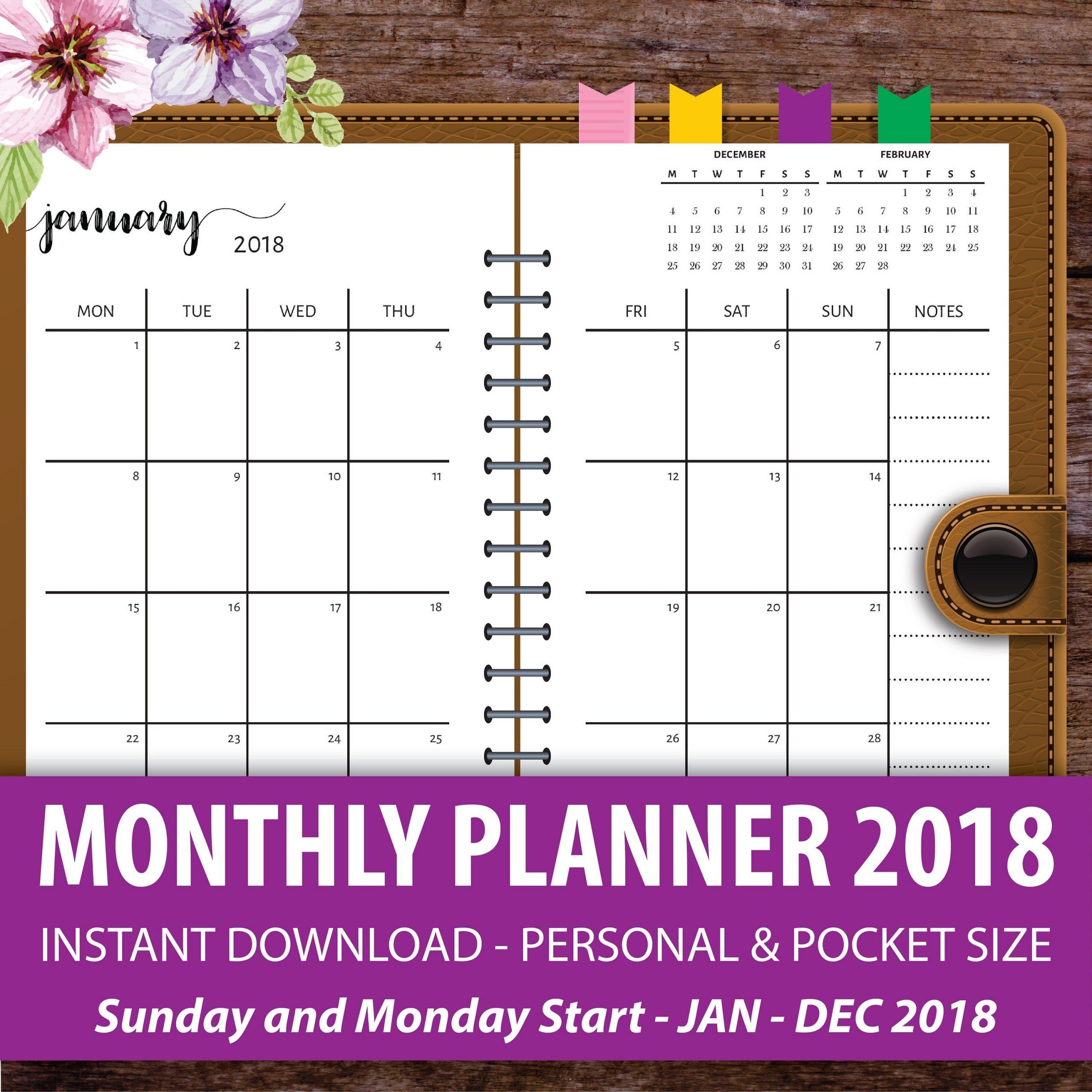 New Free Printable Pocket Calendar | Free Printable Calendar