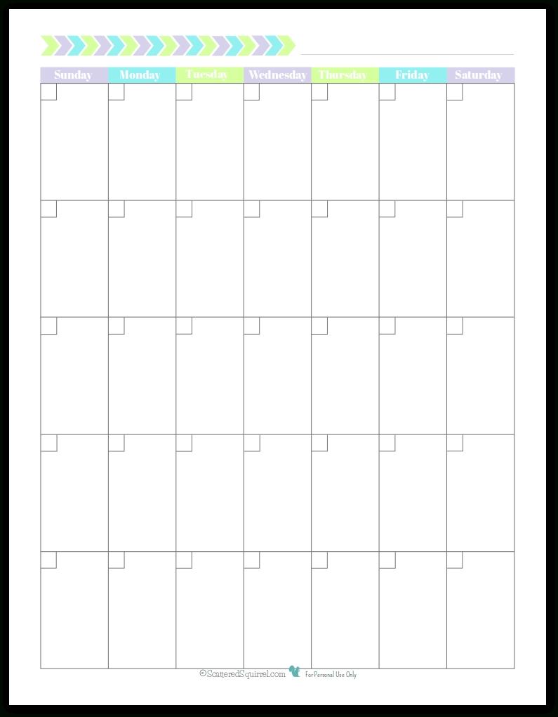 Personal Planner - Free Printables | Blank Monthly Calendar